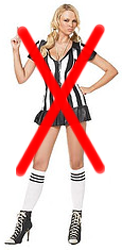 naughty referee outfit