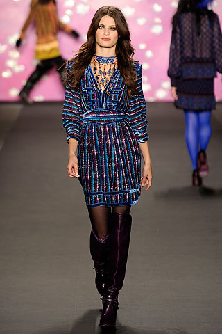 Anna Sui Deep Blue Runway Dress