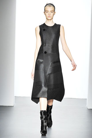 Calvin Klein textured A-line dress
