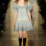 Jill Stuart Grey Striped Runway Dress