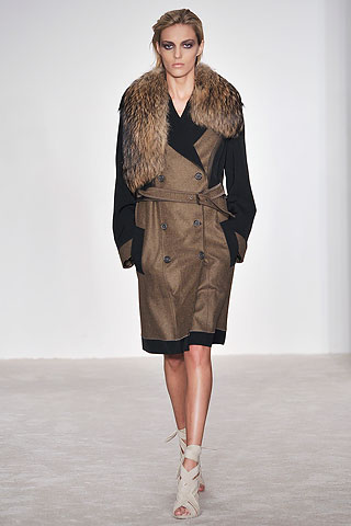 Derek Lam fur trimmed trench