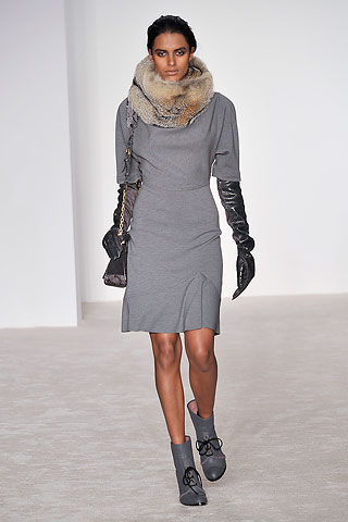 Derek Lam grey jersey sheeth