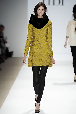 Tibi Gold Runway Dress