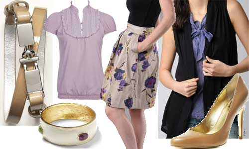 business casual attire for women. Business Casual floral skirt