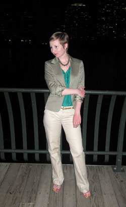 Business Casual Green Jacket