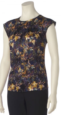 Floral ruffled sleeveless blouse from the limited