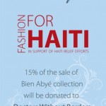 Fashion for Haiti Relief