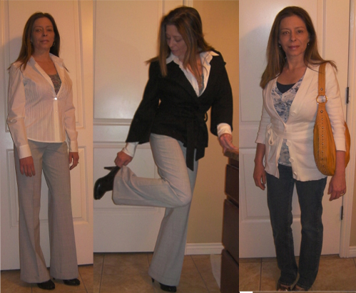send us a pic or two of her favorite casual and business casual looks