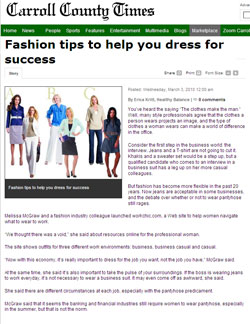 Workchic Featured in the Carroll County News