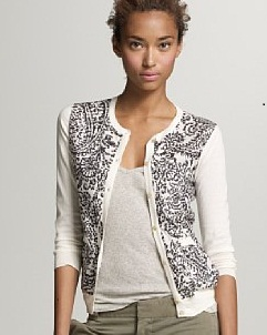 Island paisley pocket cardigan