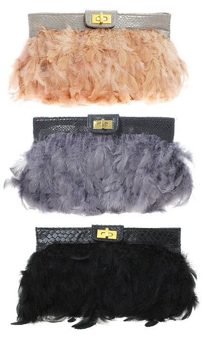feather clutches