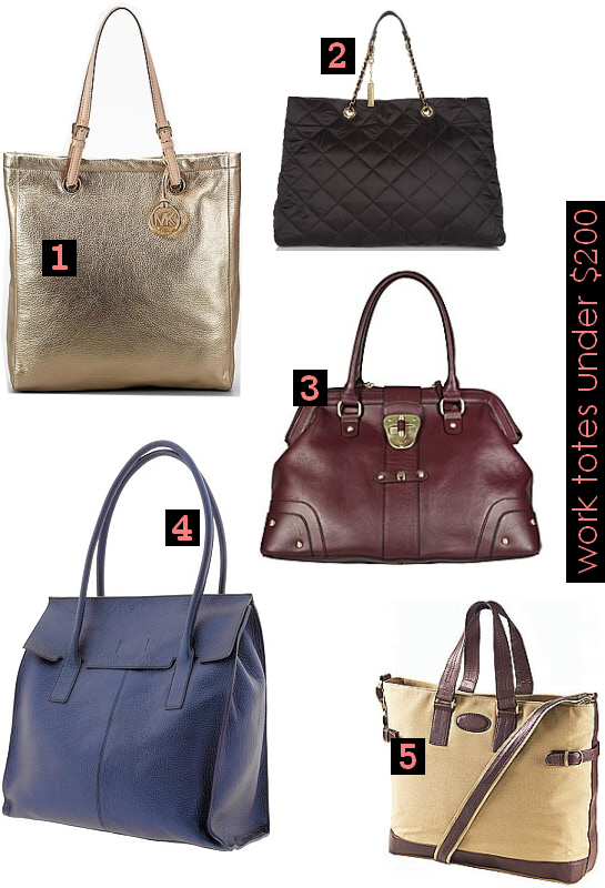 5 chic work totes under $200 | WorkChic