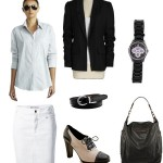 Style Me Monday – black and white biz casual