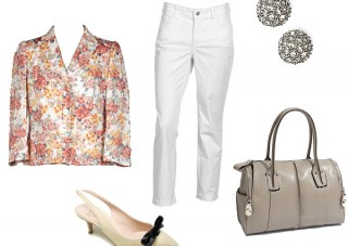 floral jacket ensemble