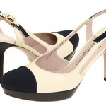 Cap-toe slingbacks from high to low