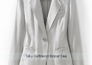 Silky Girlfriend Blazer