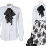 Look for Less – Jason Wu White Silk-Bow Top