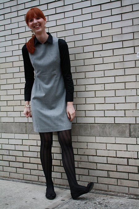 gray sheath dress