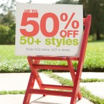 Frugal Wednesday – 50% off 50 styles