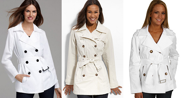 Look for Less – Burberry Short Double Breasted Trench Coat | WorkChic