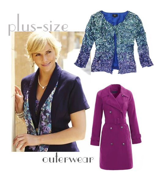 Chic plus-size outerwear