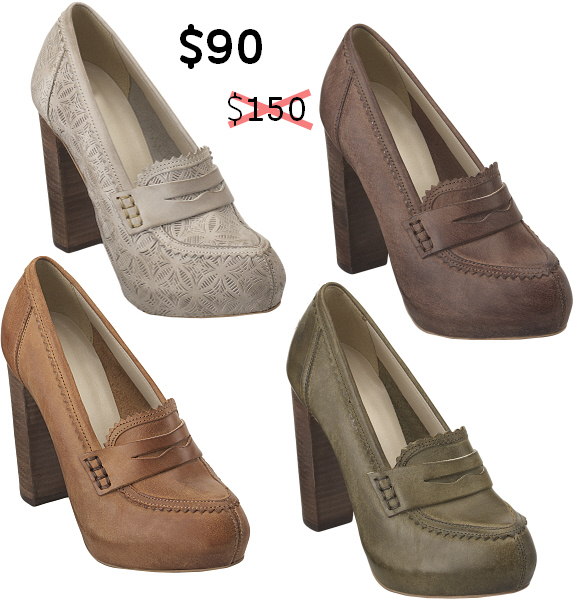 loafer platform pumps