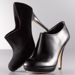 Via Spiga bootie in chocolate on clearance sale