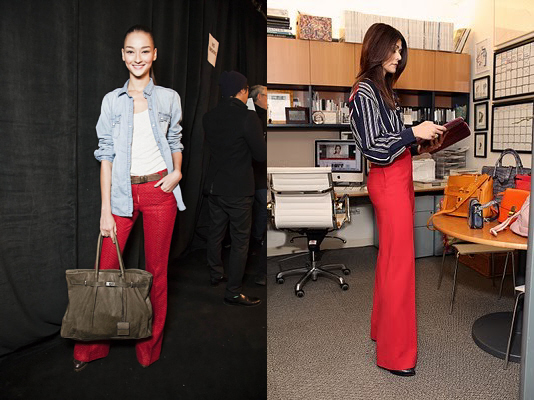 red pants trend
