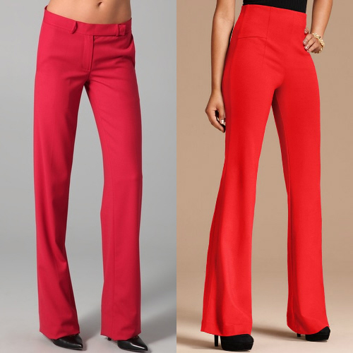 Elegant  NYCThe Split Leg Pant In Black And Red Pants For Women  Polyvore