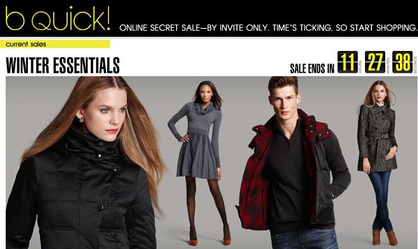 Bloomingdales.com invite only Flash Sale