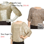 gold sequin tops