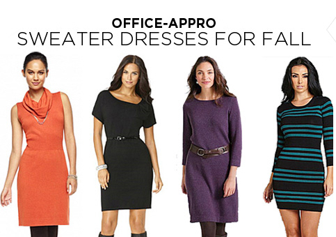 Sweater dresses for the office