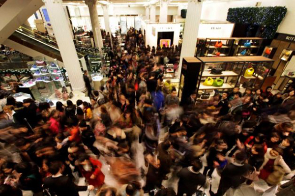 No more crowded malls
