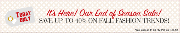 Today only – Spanx End of Season Sale!