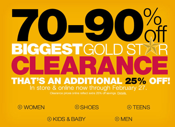 Current clearance & promos at Kohl's
