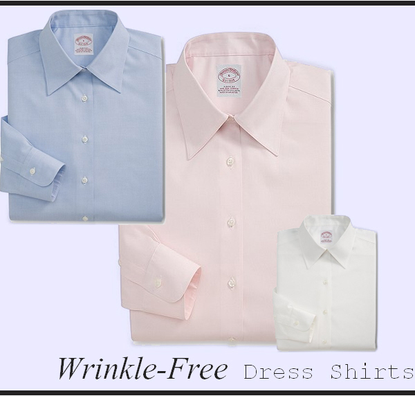Wrinkle-free dress shirts in airy hues