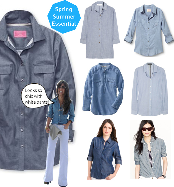 Spring workwear essential – chambray shirts
