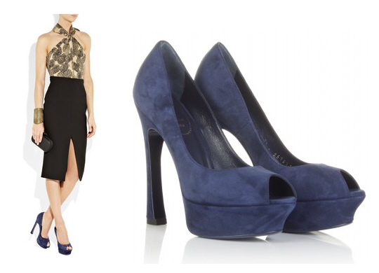 Look for Less – YSL Palais Peep-Toe Pumps