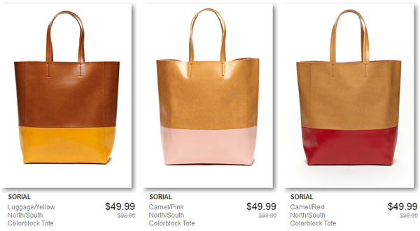 Two-tone colorblock tote bags sale | WorkChic