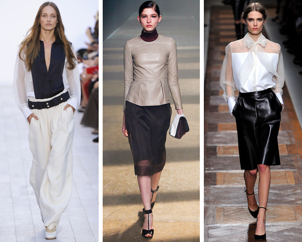 How to wear sheer to work