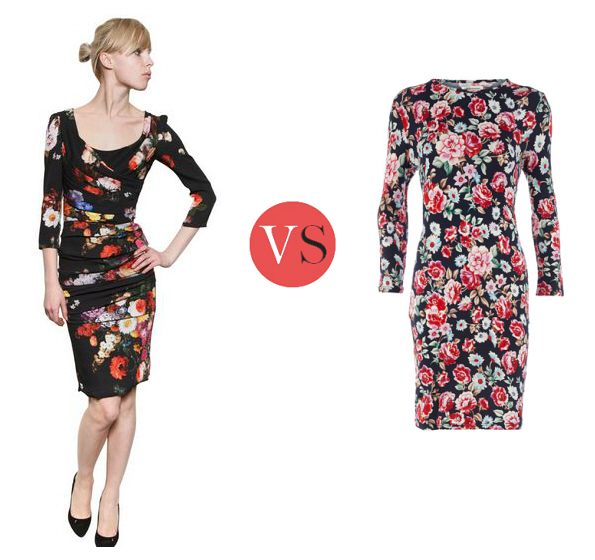 Look for Less – Dolce & Gabbana stretch floral dress