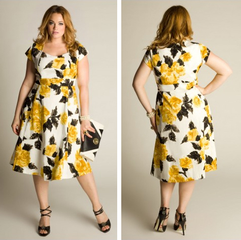 Igigi plus size floral print dress | WorkChic