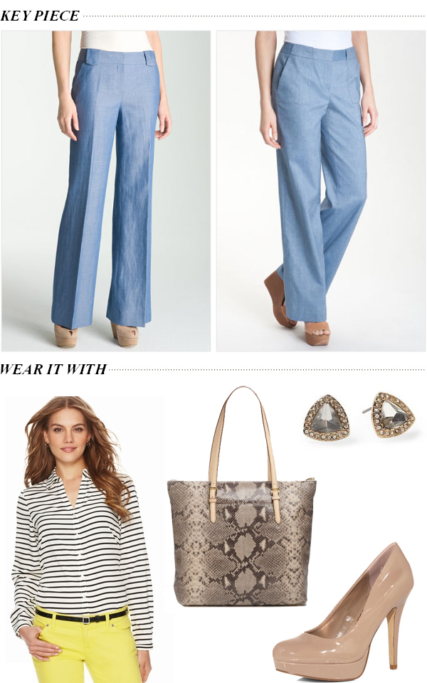 Smart-chic chambray pants