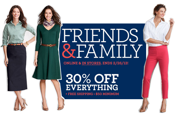 friends & family event sale
