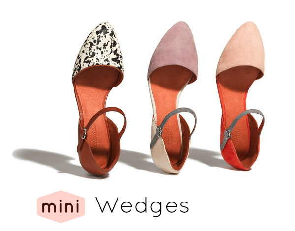 mini wedge heels