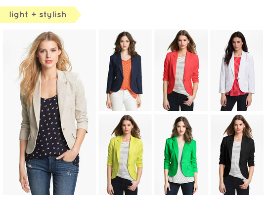 Collection Womens Summer Blazer Pictures - Reikian
