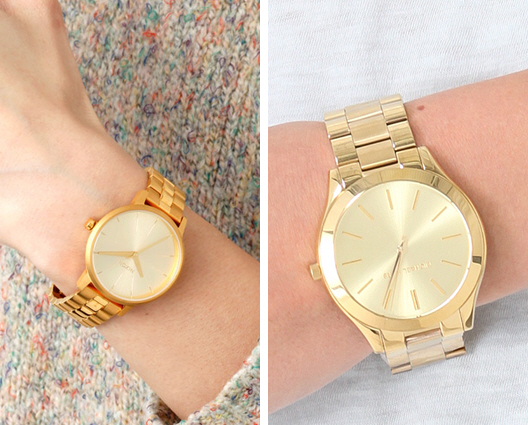 sleek gold watch