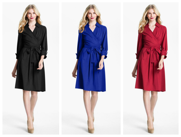 Fit & Flare Wrap Dress