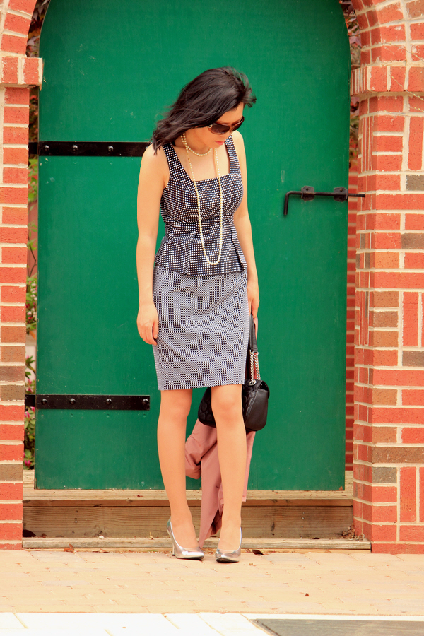 peplum shift dress