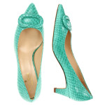 snake empossed pumps